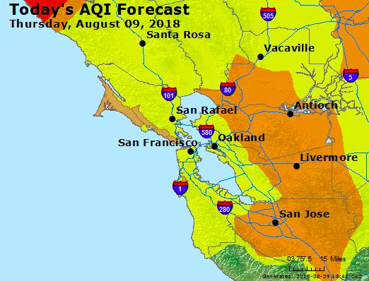 Northern California Fires Air Pollution Warning Issued Over Smoke