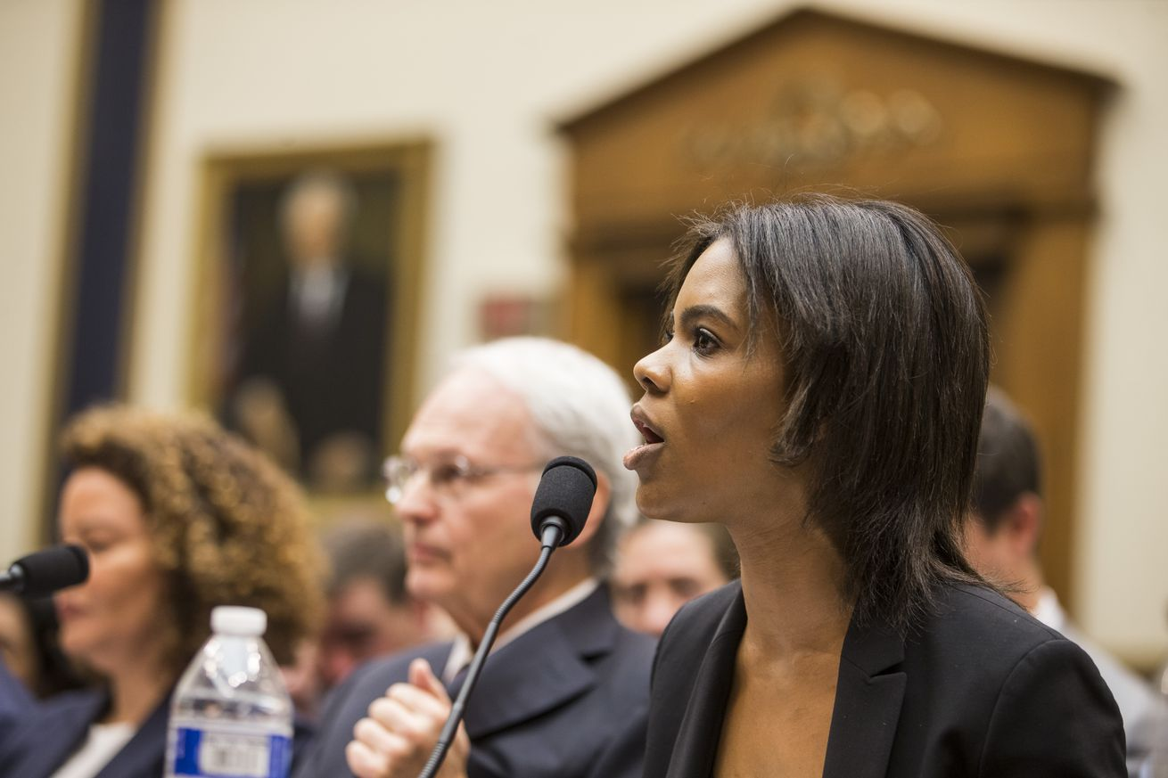 Candace Owens of Turning Point USA testifies during a House Judiciary Committee hearing discussing hate crimes and the rise of white nationalism on Capitol Hill