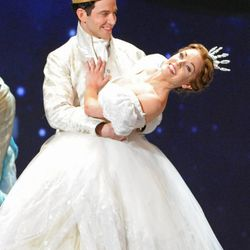 """This June 9, 2013 file photo shows actress Laura Osnes of Rodgers & Hammerstein's """"Cinderella"""" performing at the 67th Annual Tony Awards in New York. The hit syndicated game show """"Jeopardy!"""", hosted by Alex Trebek, will dedicate a category to the musical, """"Rodgers & Hammerstein's Cinderella,"""" on Tuesday, Nov. 26.   (Photo by Evan Agostini/Invision/AP, File)"""