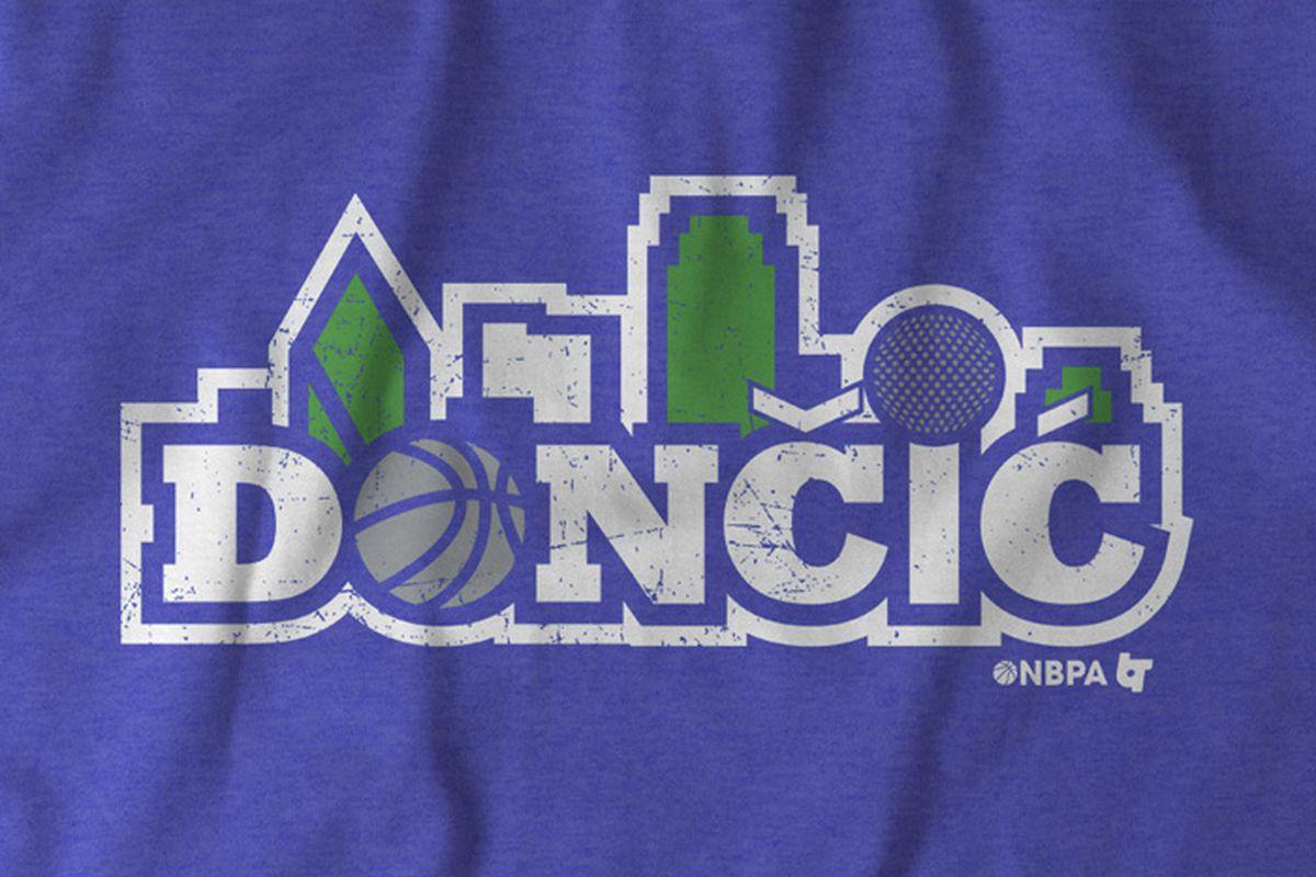 half off 9e6e7 51606 Get our new Dallas Mavericks Luka Doncic t-shirt for the ...