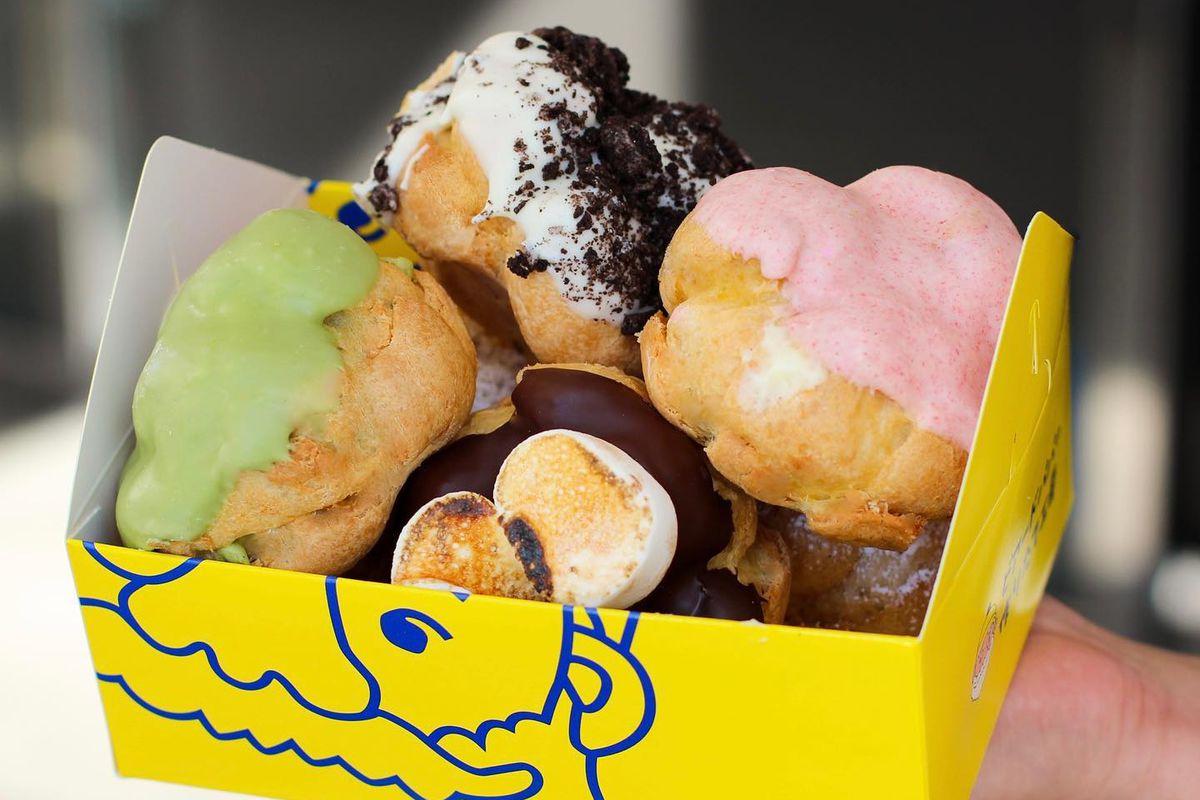 Box of assorted cream puffs from Beard Papa's