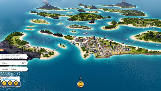 <em>Tropico 6</em>'s new archipelagos give some variety to the starting topography, but can cramp your dictator's plans in the early going.