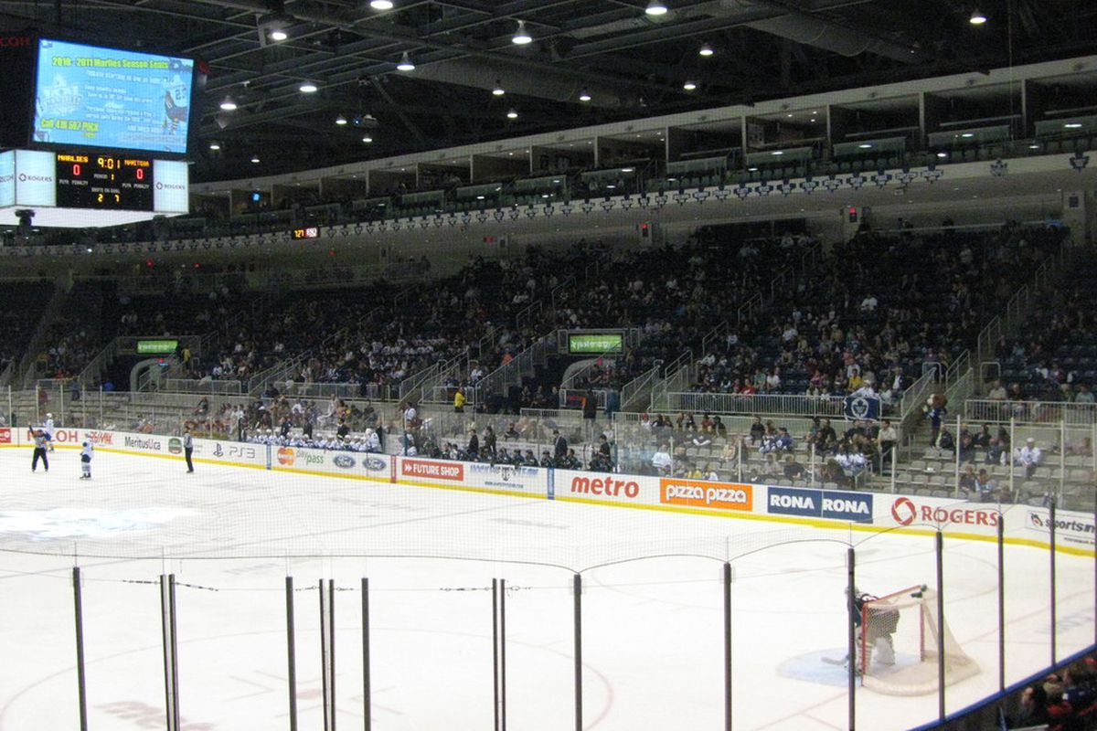 The Marlies crowd was bigger on Good Friday than for my last visit.