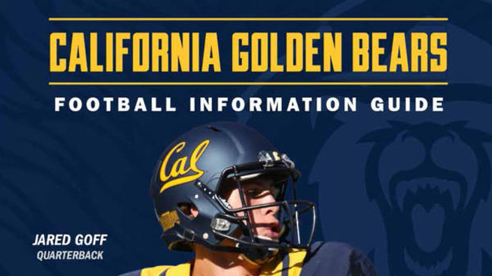 Cal Football Media Guide 2014 Jared Goff Cover Roster Updates Pdf