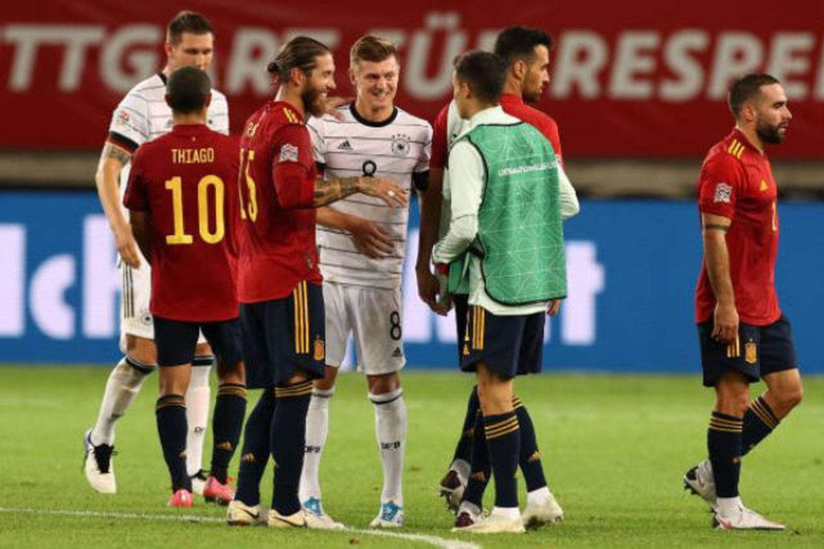 Three Real Madrid Players Feature In Germany Vs Spain Uefa Nations League Stalemate Managing Madrid