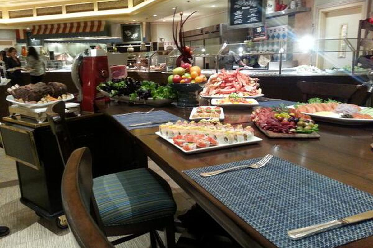 The chef's table at the Bellagio Buffet