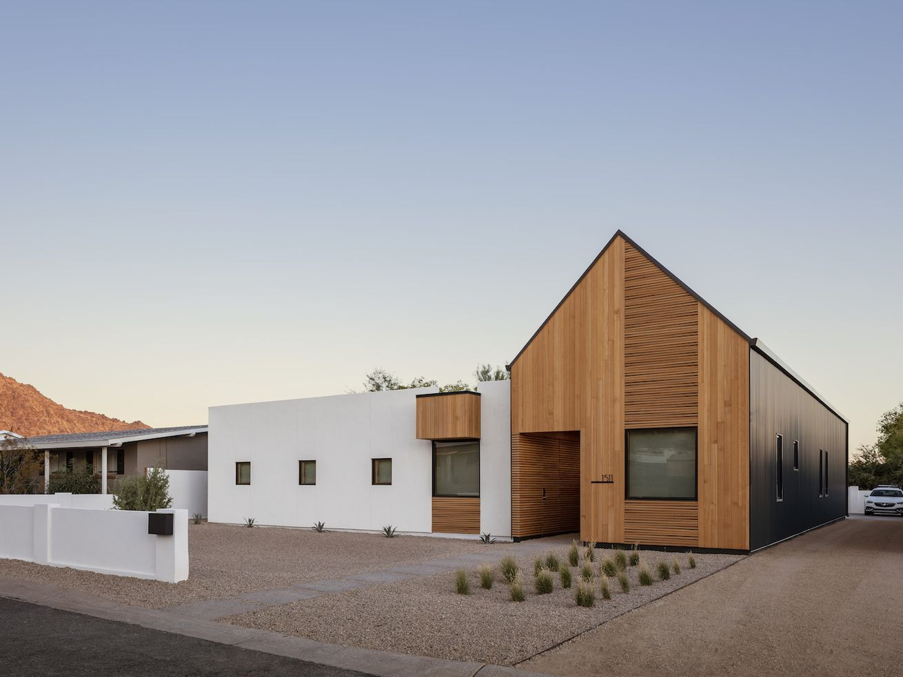 Desert modern house is big on shape and texture