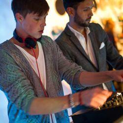 The DJs in action