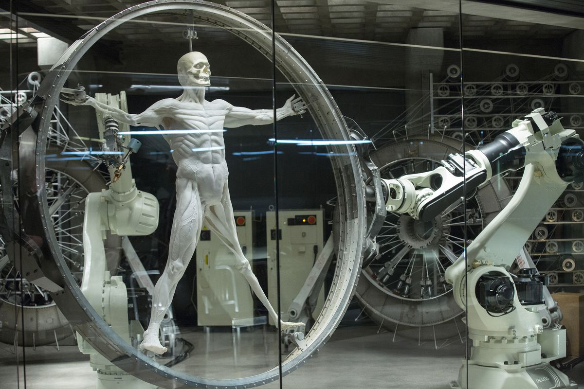 A robot in production on HBO's Westworld