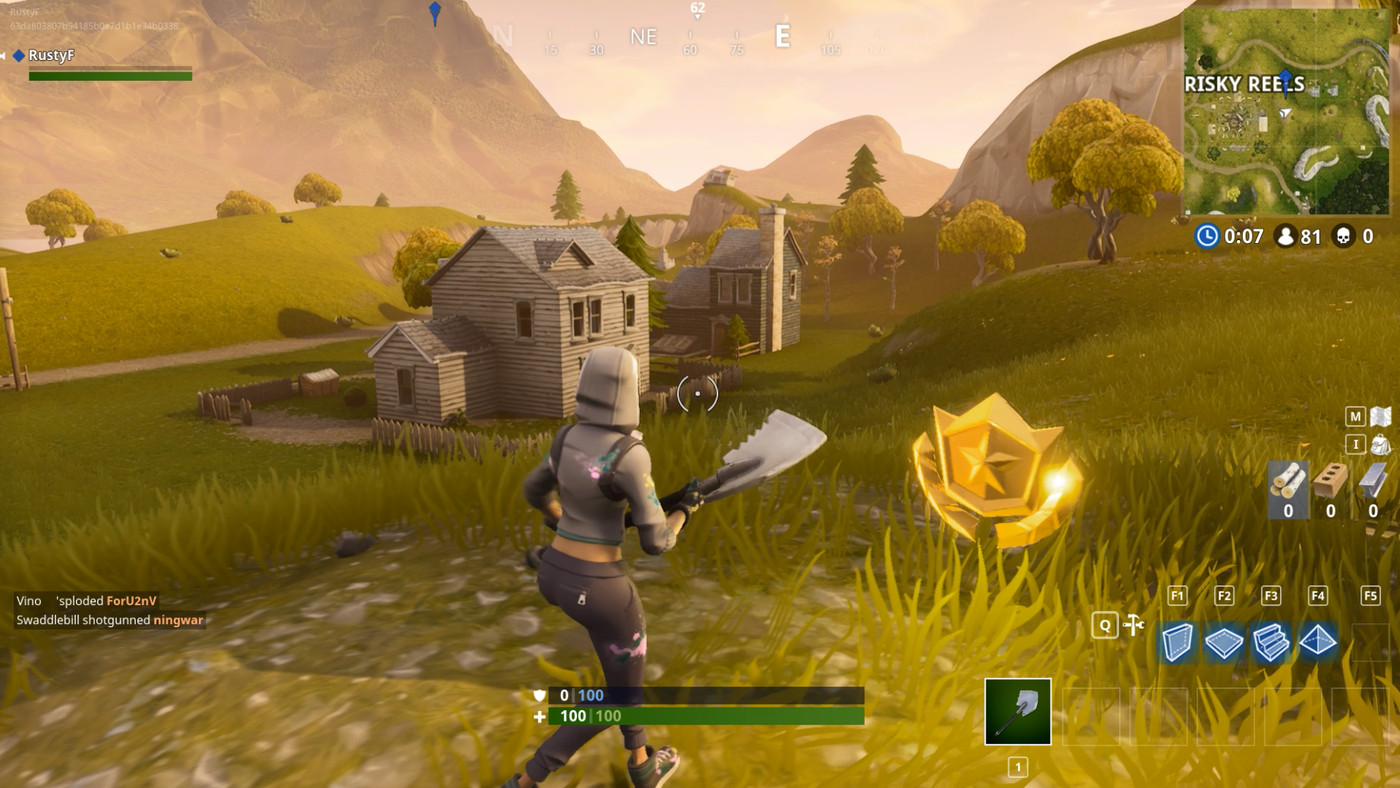 Search Between A Scarecrow Pink Hotrod And A Big Screen Fortnite
