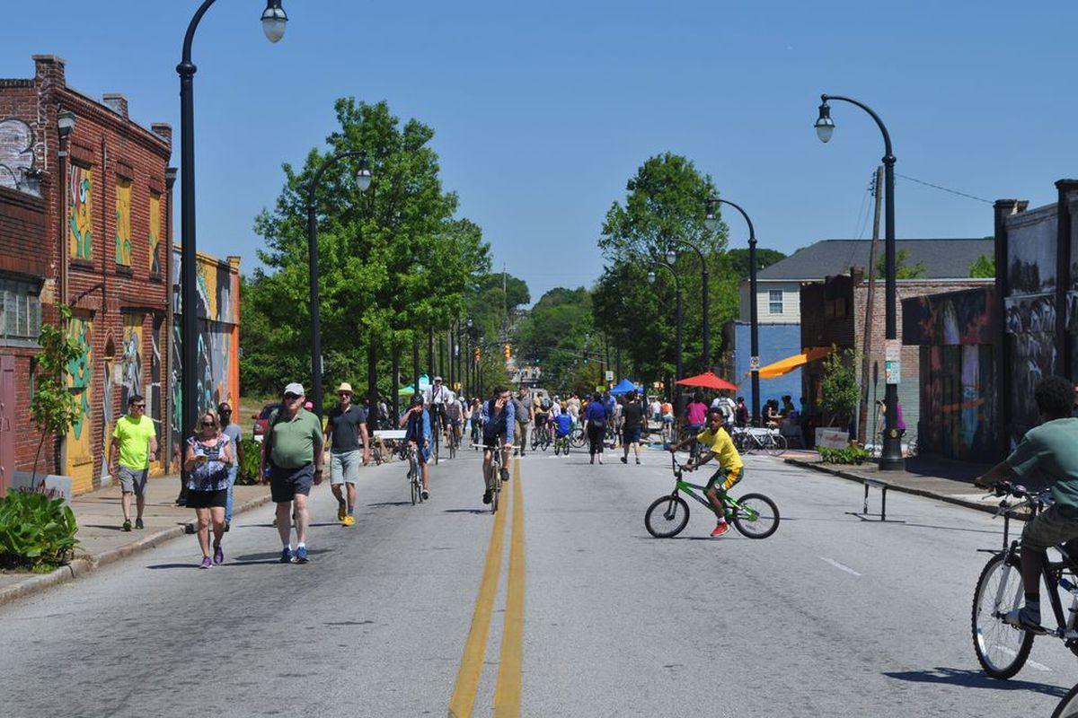 The scene in Summerhill last April during Atlanta Streets Alive's initial 2016 event.