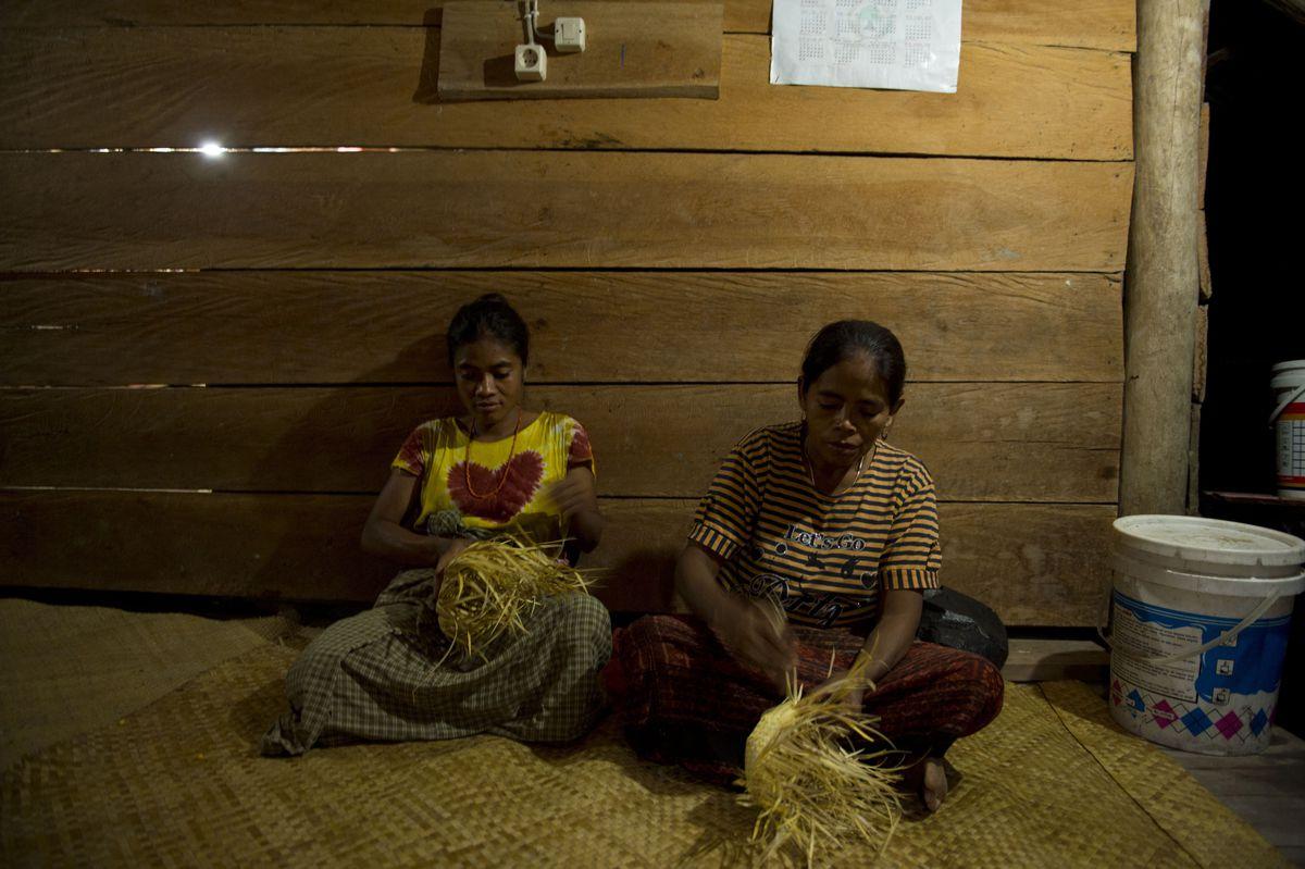 Women weaving in Sumba