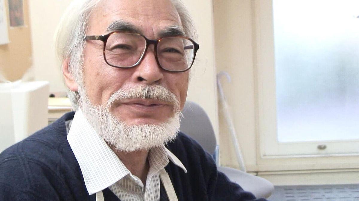 hayao miyazaki smiling