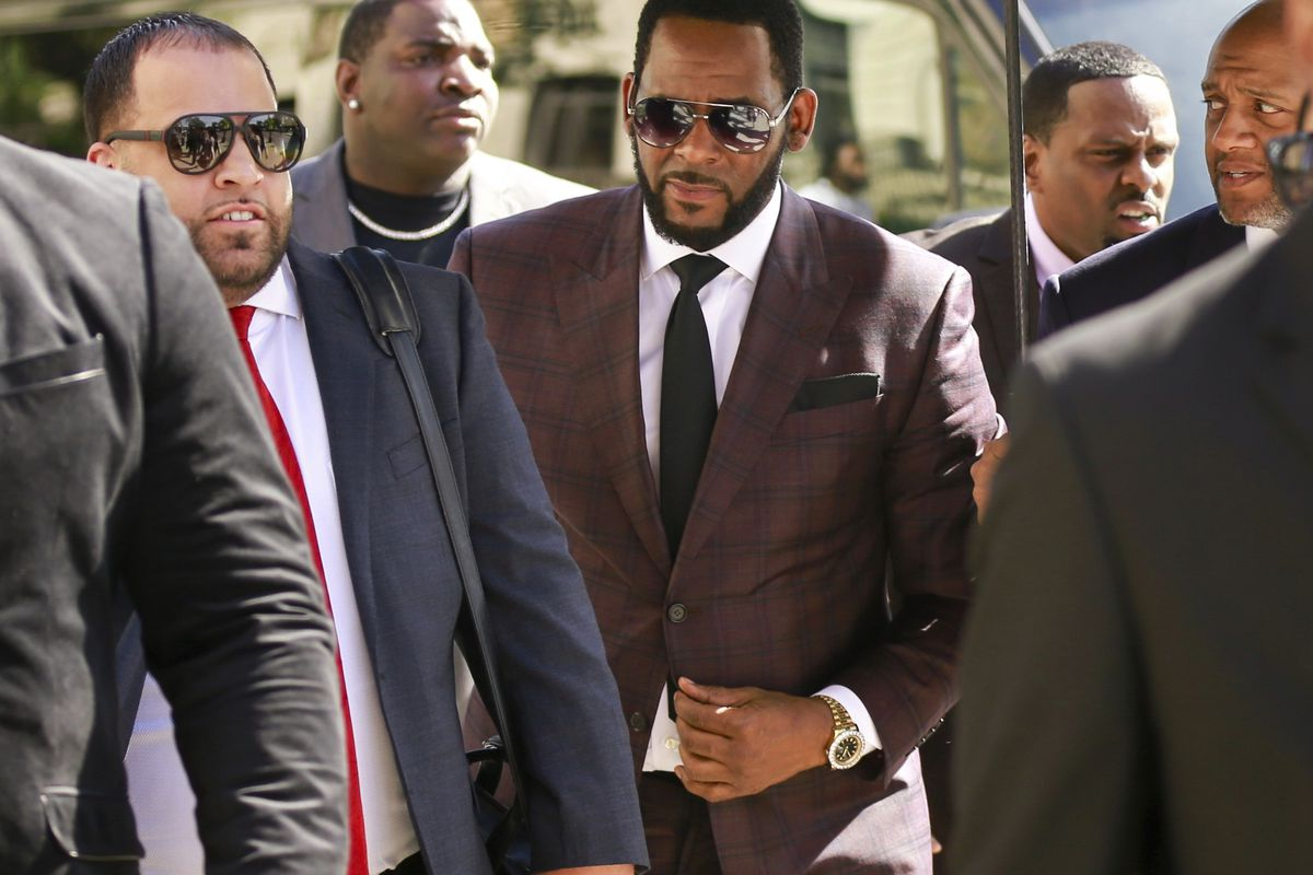 R. Kelly in June 2019 arriving at the Leighton Criminal Courthouse in Chicago.