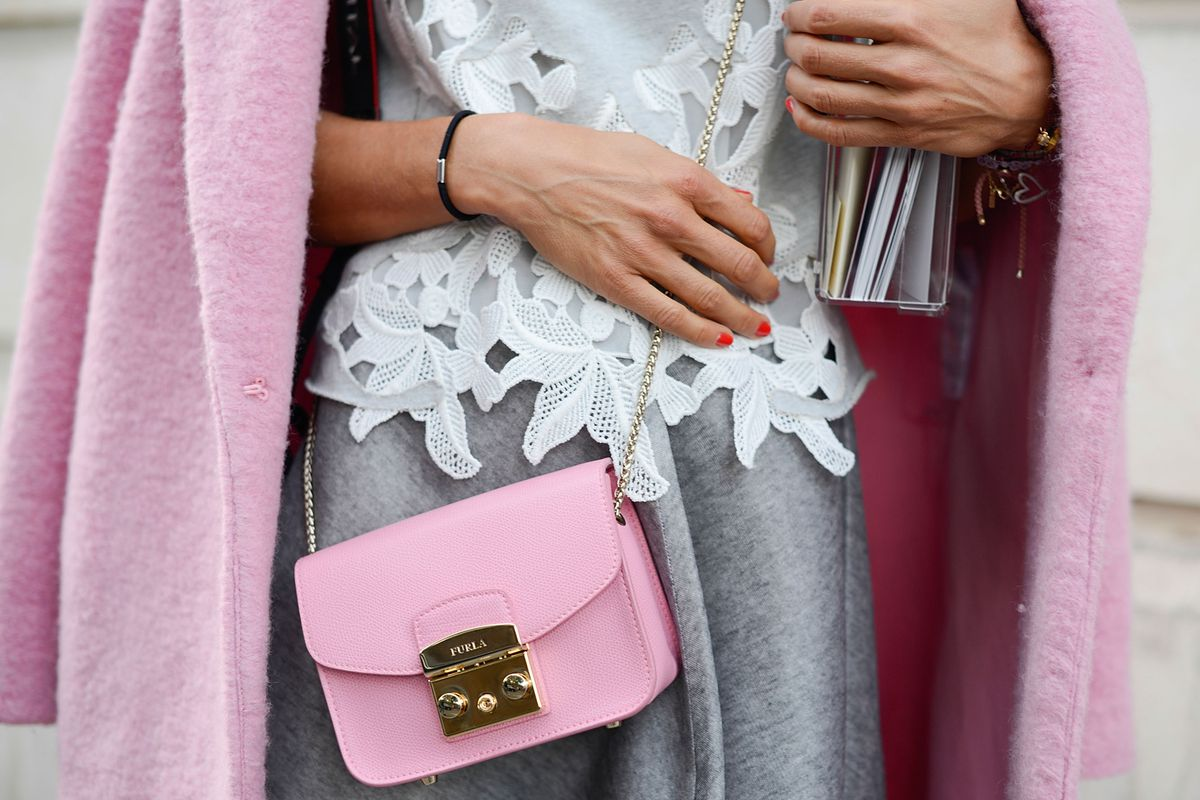 A Furla bag spotted at Paris Fashion Week in September 2014