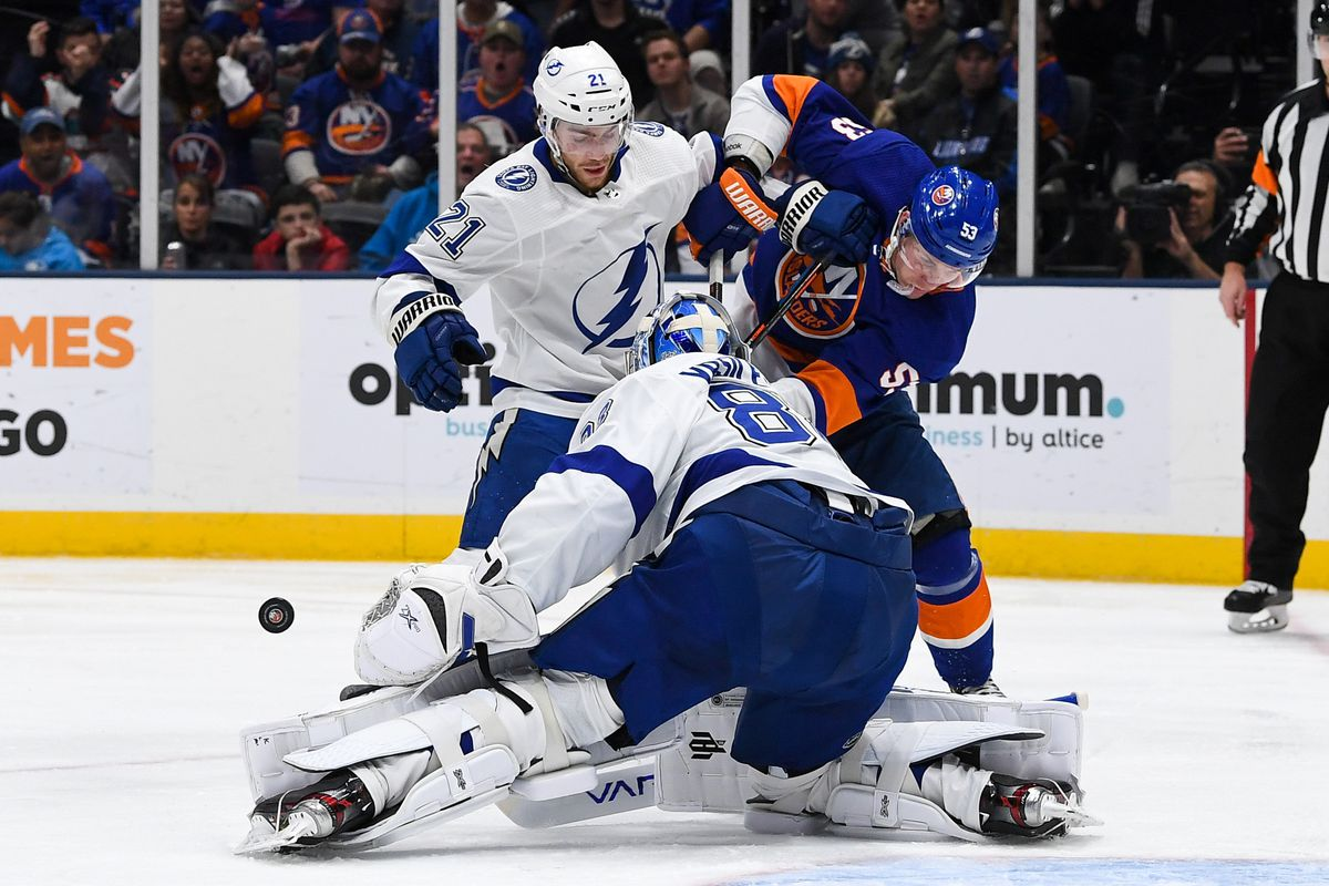 NHL: Tampa Bay Lightning at New York Islanders