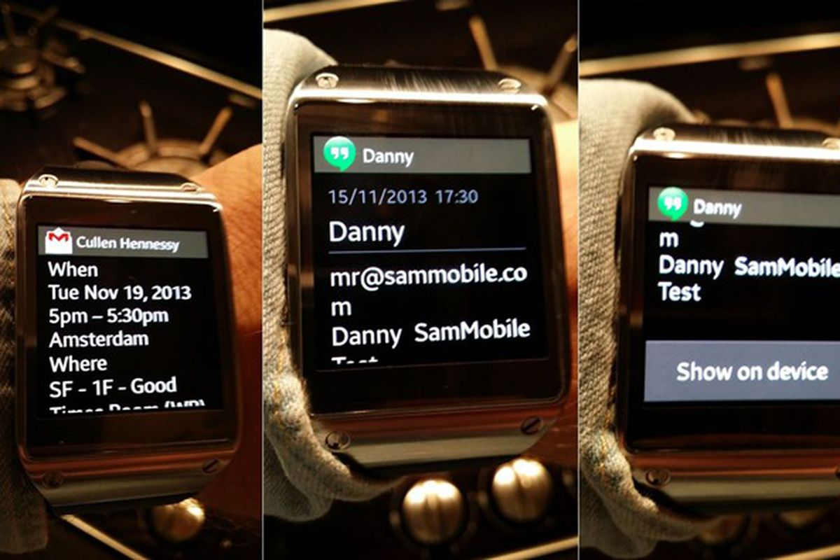 Samsung's Galaxy Gear smartwatch can now display full