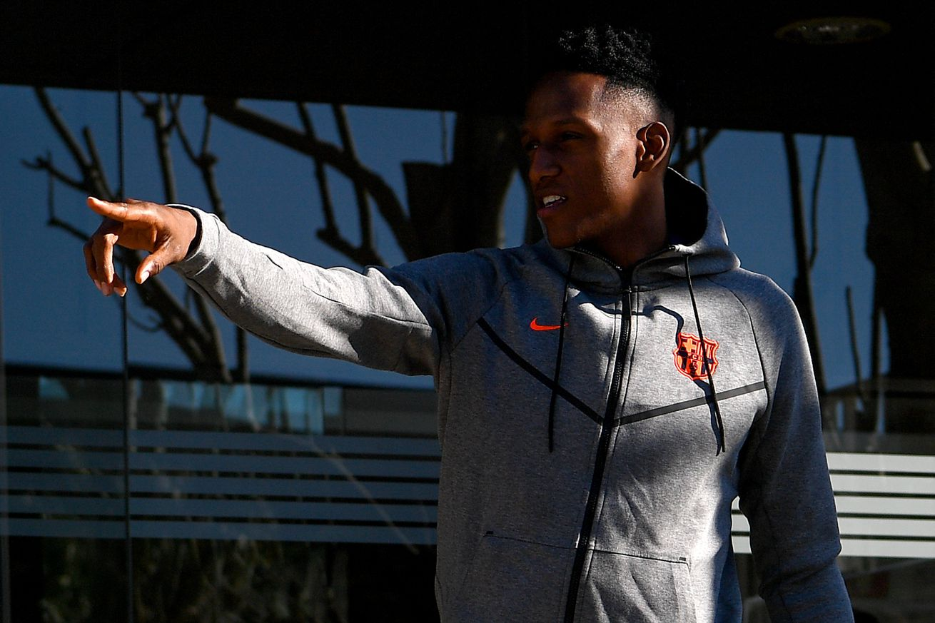 Yerry Mina ready to learn from Pique, Umtiti and Messi at Barcelona