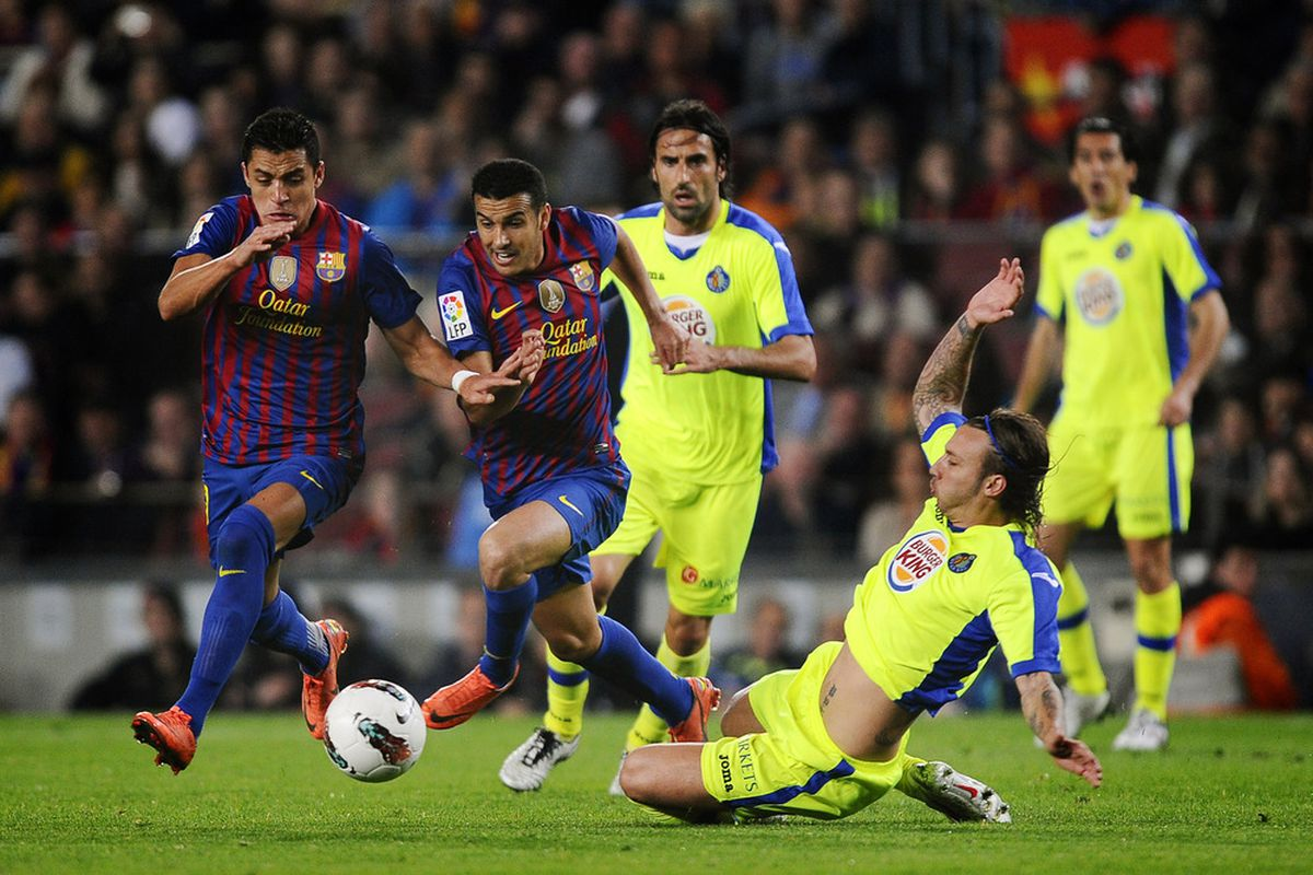 The game against Getafe marked the first time that Pedro and Alexis Sanchez scored in the same game. Can we see more of that please?
