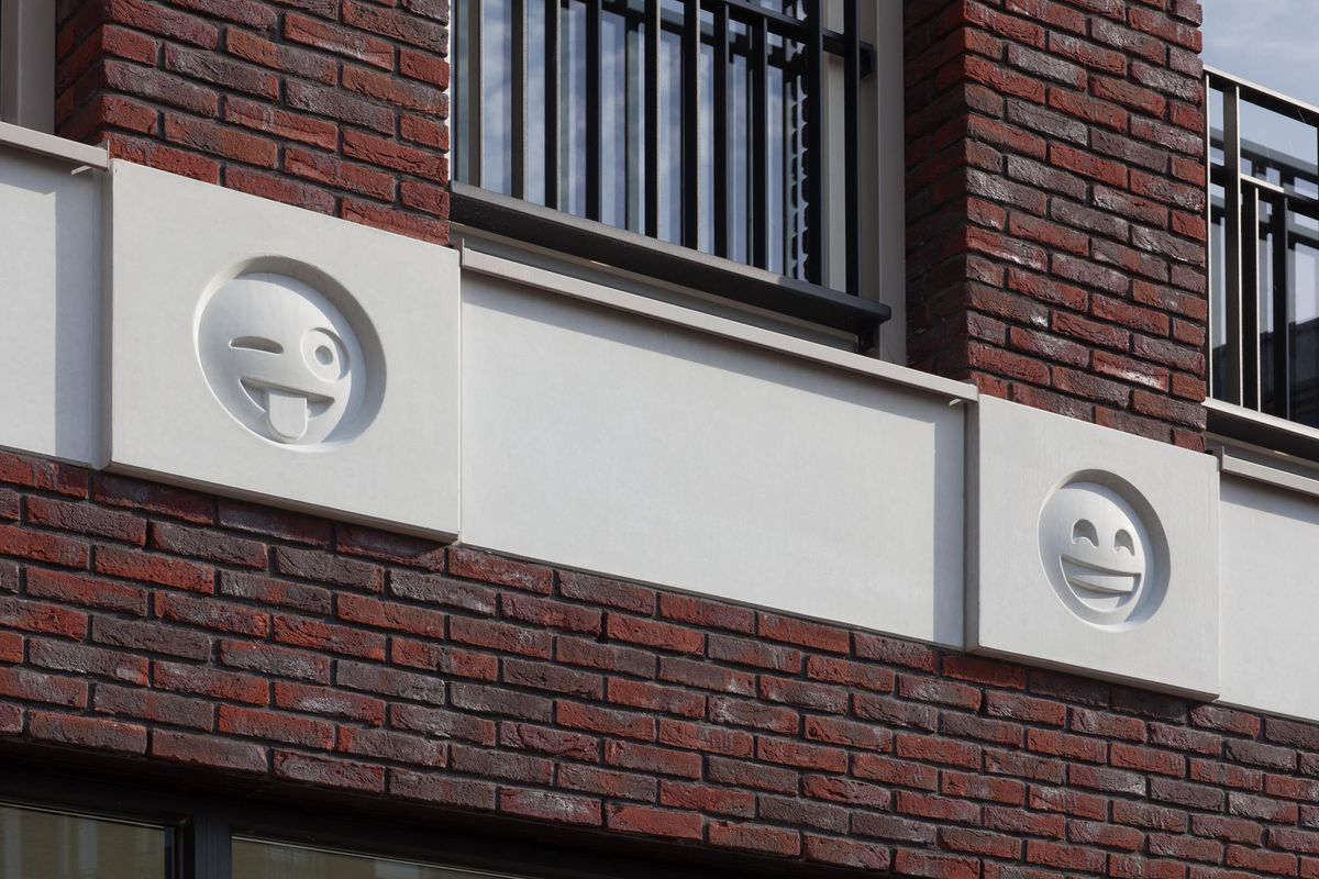 This Building Uses Emoji Cast In Concrete As Modern