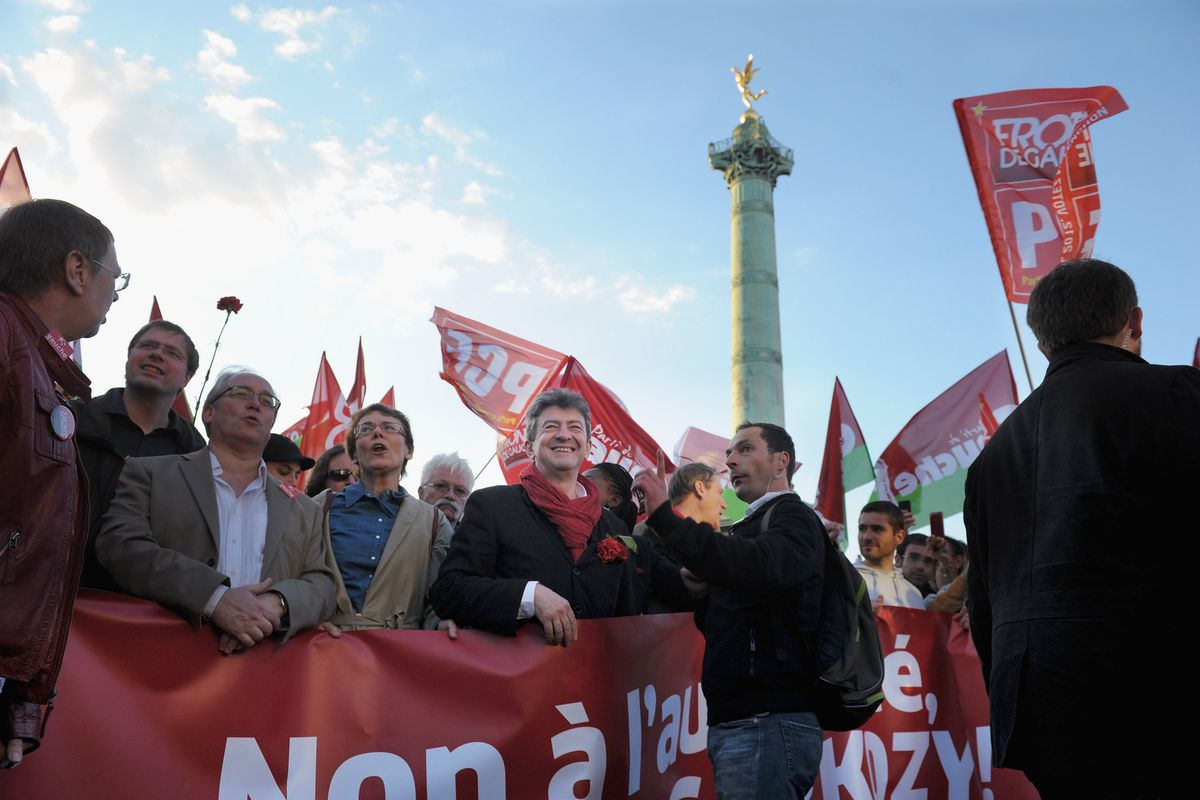 Left Parties And Unions Demonstrate on May Day Labour Day