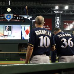 Brewers observe a moment of silence at Chase Field