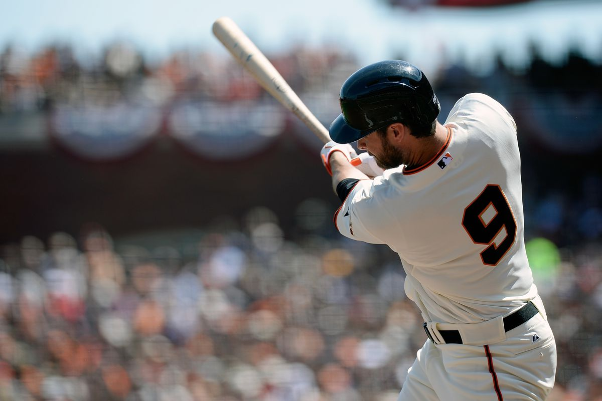 Brandon Belt hit 7 home runs that totaled 2,762 feet in distance or 0.5231061 miles, which, at pace of a 14 minute mile means 89 calories burned or the equivalent of 63% of an Olive Garden bread stick.