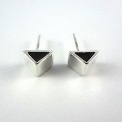 """Triangle stud earrings, <a href=""""http://www.etsy.com/listing/157012247/valentines-sale-silver-triangle-stud?ref=listing-shop-header-1"""">$33.15</a> by Sarah Cecilia at Etsy"""