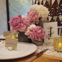 """Element 6: The Perfect Table Number. """"A font can make a wedding and carry your look throughout the day—on menus, place cards, and signage."""" (<a href=""""http://www.bhldn.com/shop-decor-signage/floravine-table-numbers/productoptionids/de7a7b07-32a1-405c"""
