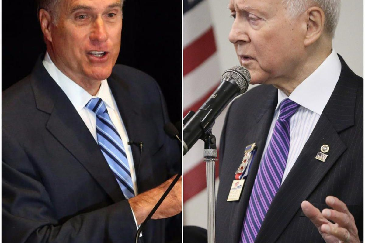 """Sen. Orrin Hatch said he would consider ending what would be a 42-year Senate career in 2018 if he """"could get a really outstanding person to run,"""" calling Mitt Romney """"perfect"""" for the position."""