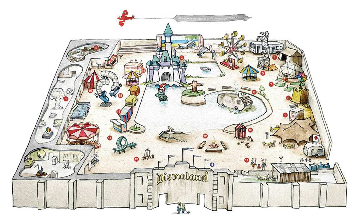 A map of Dismaland