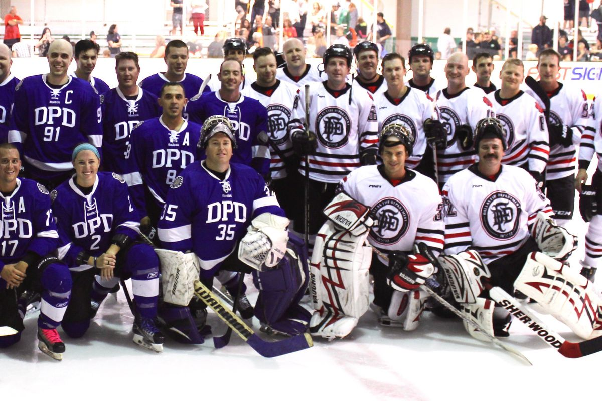 Dallas Strong Hockey Charity Game Pitted Fire Versus Police