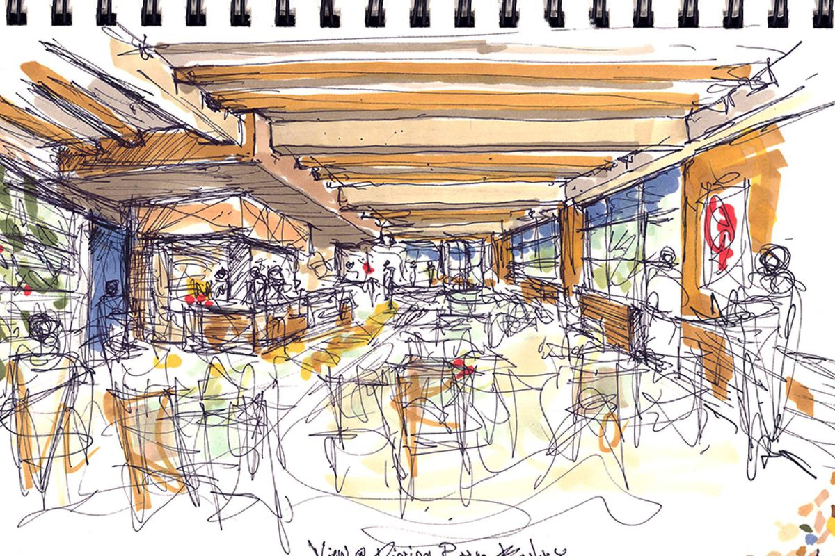 A rendering of Osteria Nino