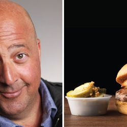 """And finally, food personality Andrew Zimmern names his burger for his home state of Arizona: The """"AZ Cabrito Butter Burger,"""" with goat meat and herb butter, will be available June 11."""