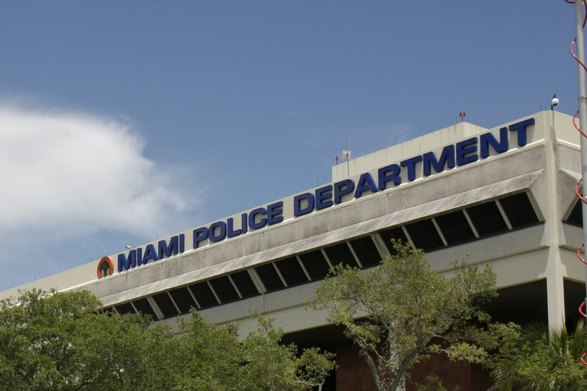 The Miami Police Department headquarters