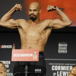 David Branch poses at UFC 230 weigh-ins.