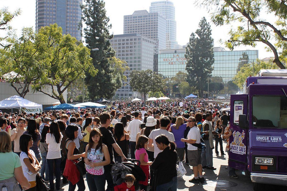 LA Street Food Fest crowds