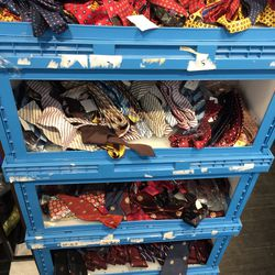 Ties, one for $15 or three for $40; bow ties, one for $10 or three for $25.