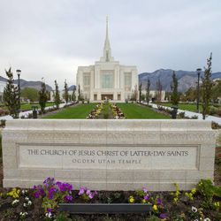 Hundreds gather for the rededication of the Ogden temple Sunday.