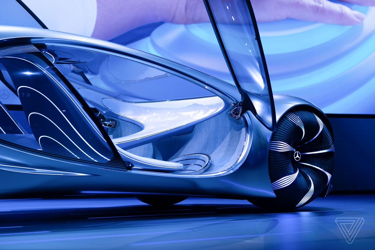 Mercedes-Benz unveils an Avatar-themed concept car with ...
