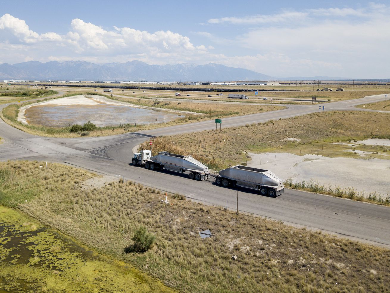A section of land looking southeast at 7200 West and I-80 that is part of the proposed Utah Inland Port in Salt Lake City on Monday, July 16, 2018. Gov. Gary Herbert joined legislative and local elected leaders to discuss consensus recommendations for the