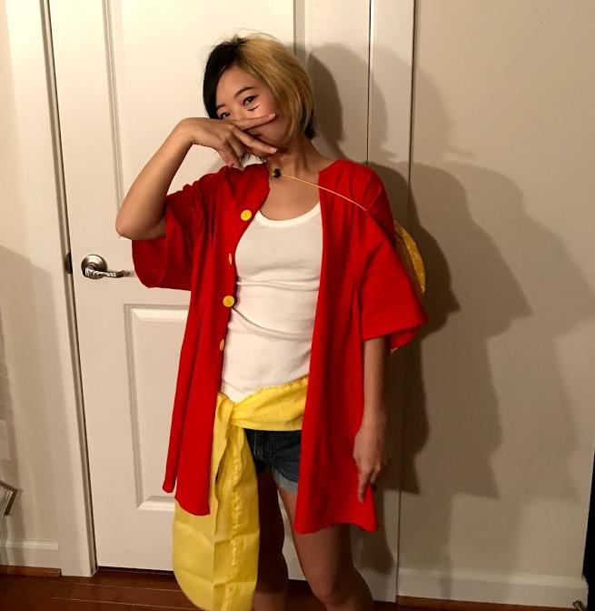 julia lee dressed as luffy