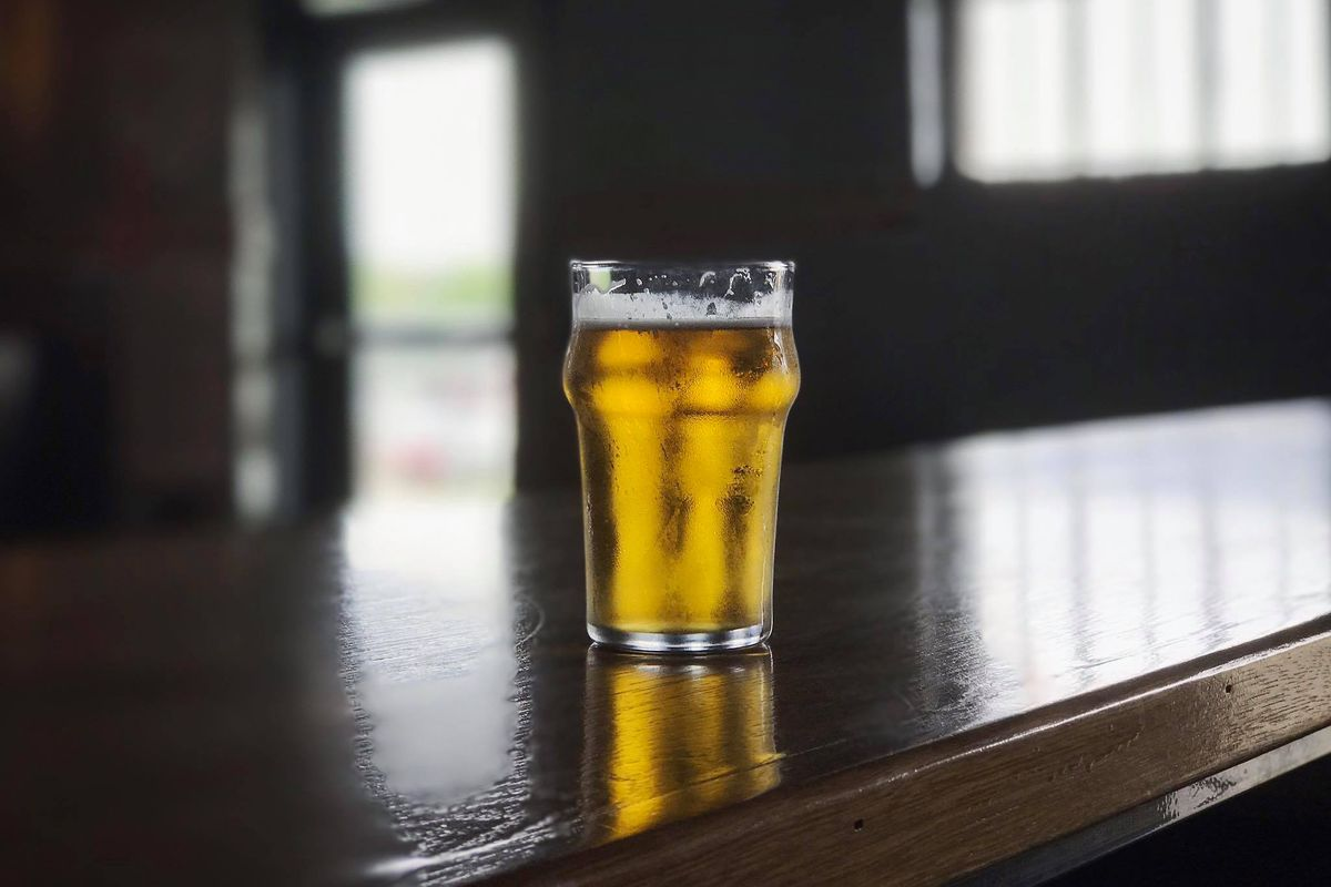 A beer at Wright Bros. Brew & Brew