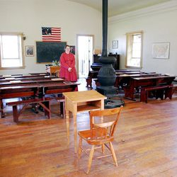 Students continue to flock to Heber City's East Ward School, a replica in the pioneer village at This Is the Place Heritage Park, where Sarah Durtschi presents timeless lessons.