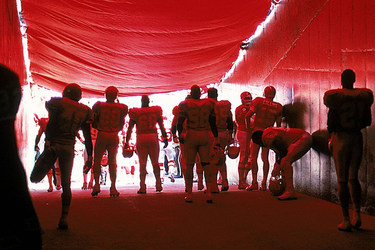 Chiefs in tunnel