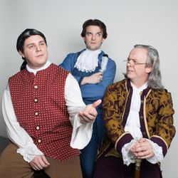 Kyle Esposito (John Adams), Jeffrey Black (Thomas Jefferson) and Jason Wadsworth (Benjamin Franklin) will take over the roles on Tuesday, Thursday and Saturday.