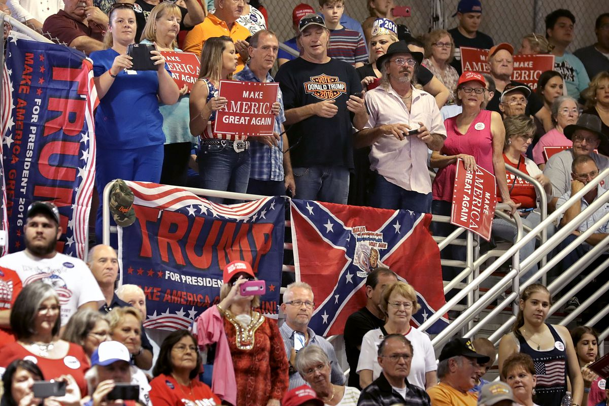 Donald Trump campaign rally In Jacksonville, Florida in 2016.
