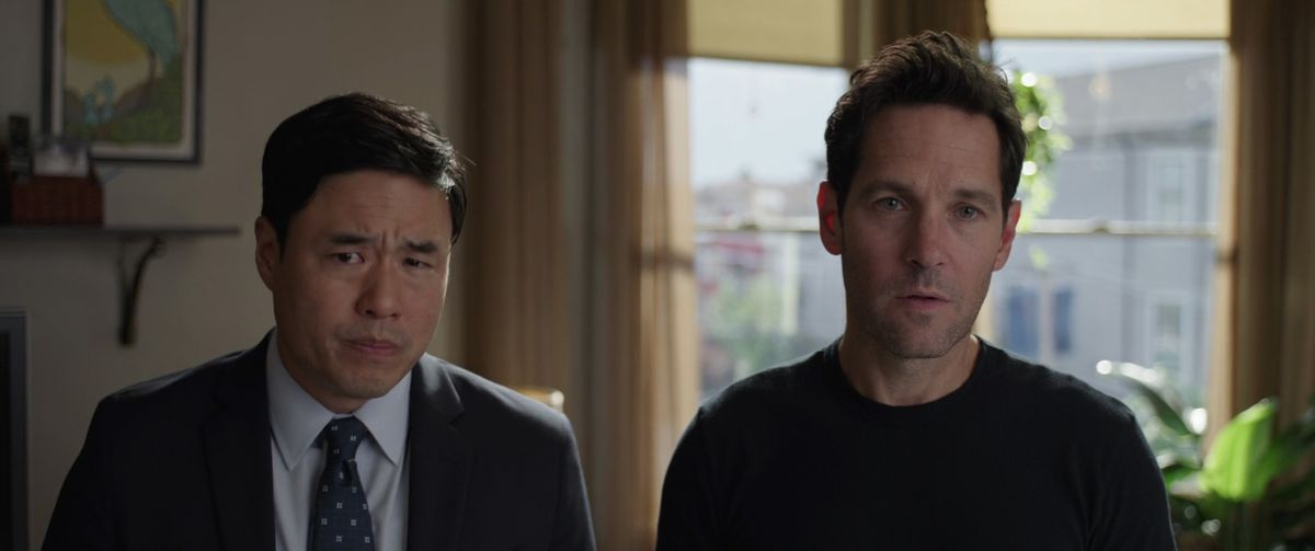 Agent Jimmy Woo and Scott Lang in Ant-Man and The Wasp