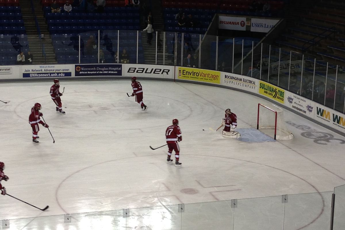 Harvard goaltender Raphael Girard made 33 saves on Tuesday night in his team's 6-3 victory over New Hampshire.