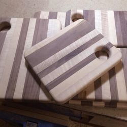 We've recently been tipped off to <b>Aberdeen Wood Shop</b>, a new store at 159 Sutherland Road in Brighton and home to reclaimed carpentry items. Take for instance these handmade cutting boards at $75.